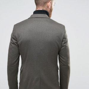 Skinny Blazer with Military Styling