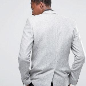 ASOS Slim Blazer 100% Wool in Grey
