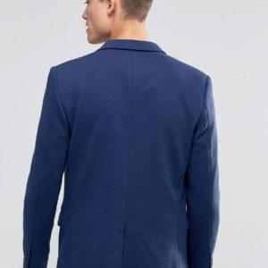 Homme Jersey Pique Blazer in Slim Fit
